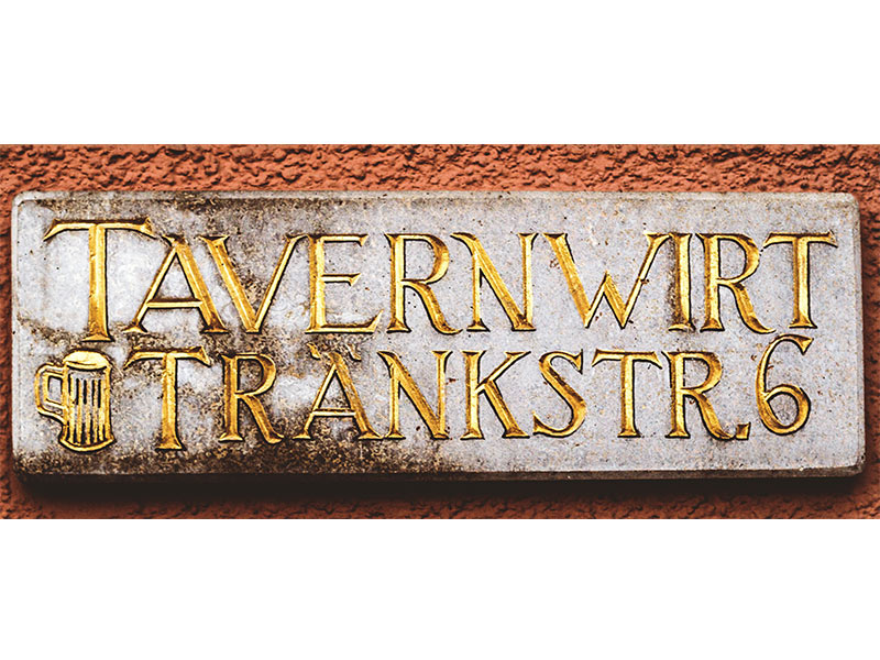 """Straßenschild """"Zum Tavernwirt"""""""